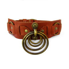 SATURN Leather Collar
