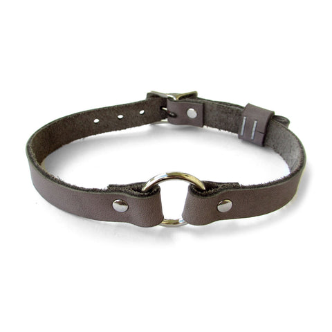 MINI O-RING Leather Collar
