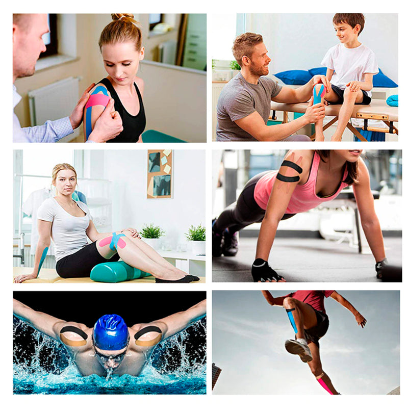 Kinesiology Tape (5m Uncut Roll) – Best Latex Free, Water Resistant Tape for Muscles & Joints