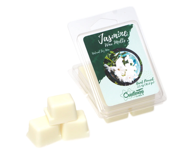 Scented Wax Melts Wax Cubes - Wax Warmer Cubes/Tarts - Soy Wax Air Freshener (Jasmine)