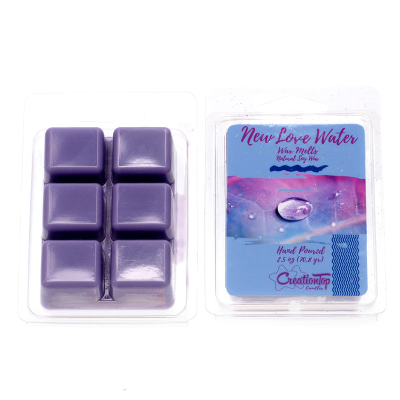 Scented Wax Melts Wax Cubes - Wax Warmer Cubes/Tarts - Soy Wax Air Freshener (New Love Water)