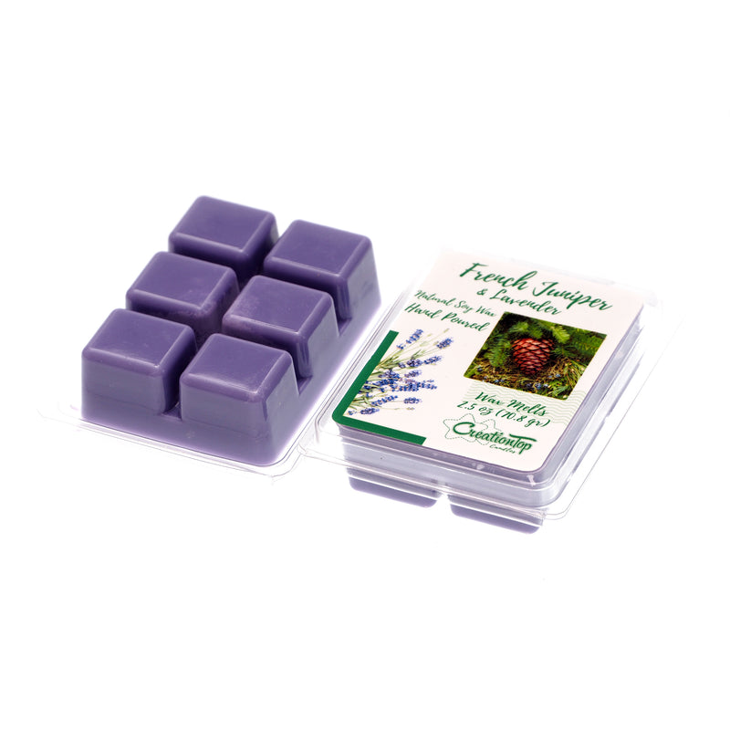 Scented Wax Melts Wax Cubes - Wax Warmer Cubes/Tarts - Soy Wax Air Freshener (French Juniper & Lavender)
