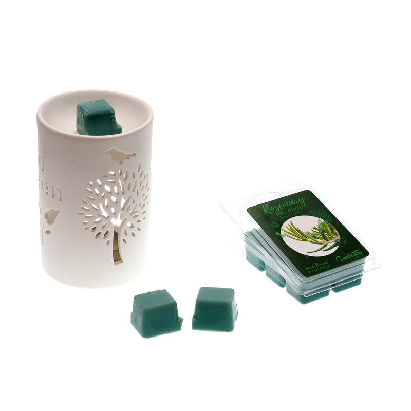 Scented Wax Melts Wax Cubes - Wax Warmer Cubes/Tarts - Soy Wax Air Freshener (Rosemary)