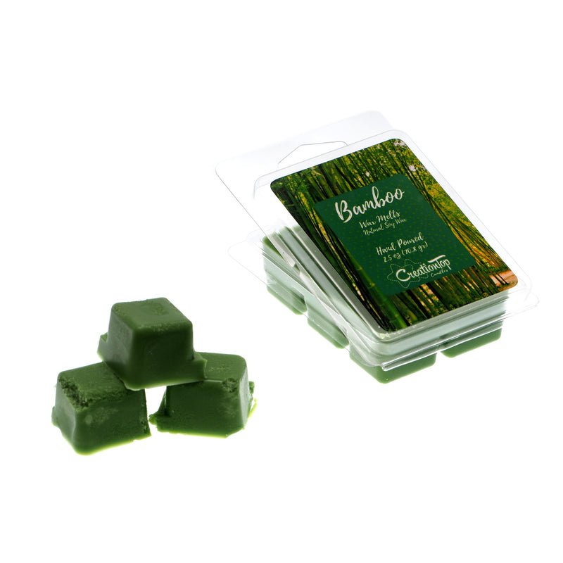 Scented Wax Melts Wax Cubes - Wax Warmer Cubes/Tarts - Soy Wax Air Freshener (Bamboo)
