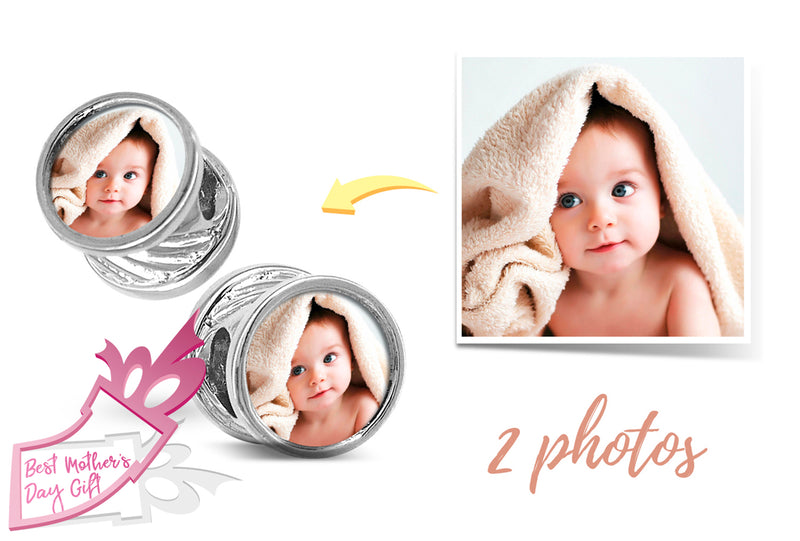 Personalised Photo Bracelet Charm / Custom Bracelet / Photo Bracelet Picture Bracelet / Photo Jewelry / Pandora Charm Bracelet Authentic