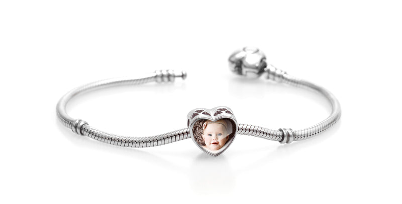 Christmas Personalised Photo Bracelet Charm Custom Bracelet Photo Bracelet Picture Bracelet Photo Jewelry Pandora Charm Bracelet Authentic