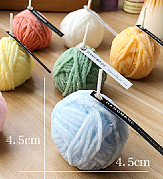 DIY 3D Christmas Knitted Ball Knitted Cylinder Craft Art Silicone Candle mold Craft Molds Handmade Soap mold