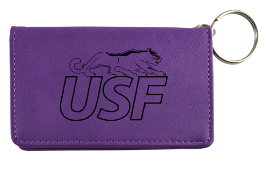 LXG Velour Purple ID Holder