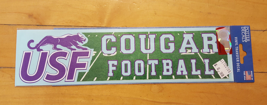 Potter Decals Cougar Football Knock-Out Decal