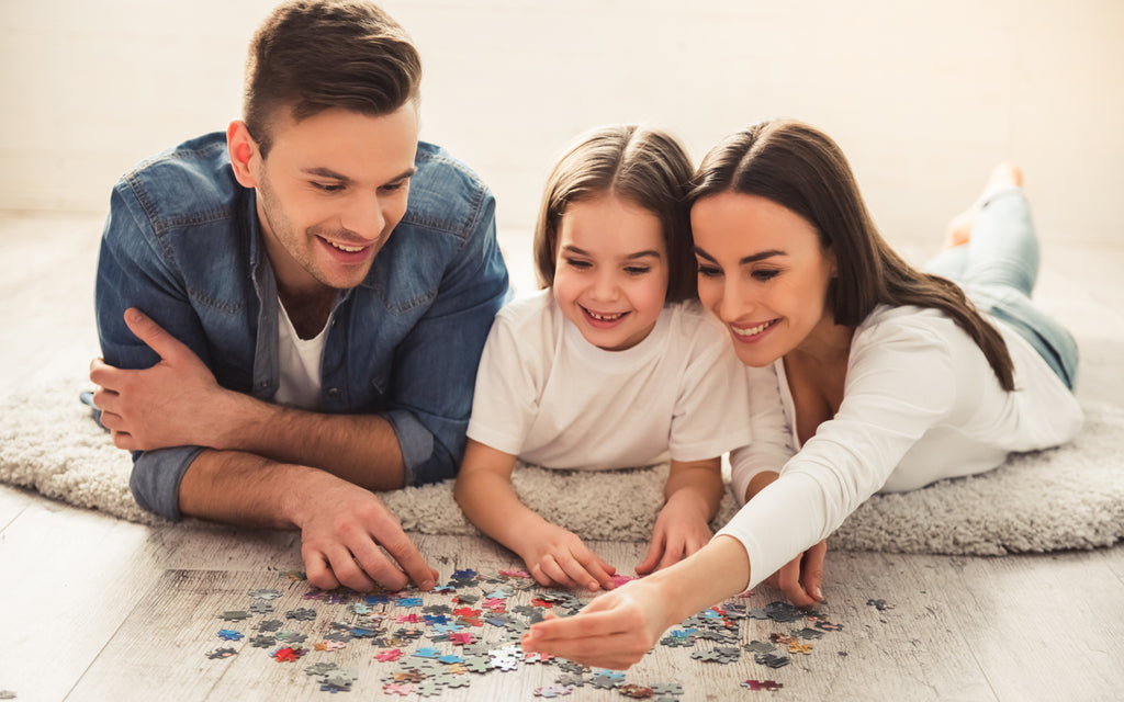 father mother daughter jigsaw puzzle