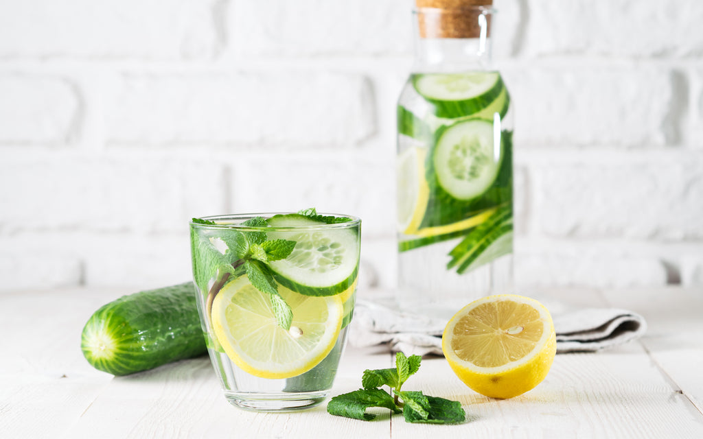 water infused cucumber lemon mint