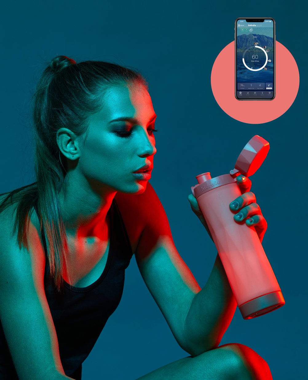 hidrate spark 3 bluetooth smart water bottle with free water tracker hydration app