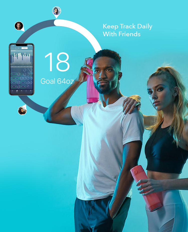 free hidrate spark water tracking app creates a daily personalized water goal keeping you hydrated