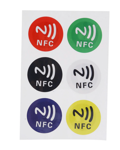 RFID 6 Sticker Sheet 13.56MHz (NTAG213)