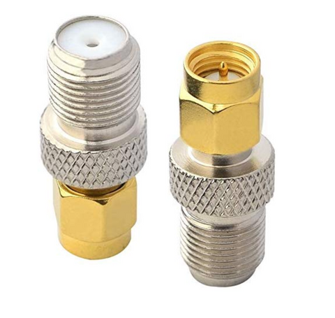 SMA Male to F Female Connector (One Connector)