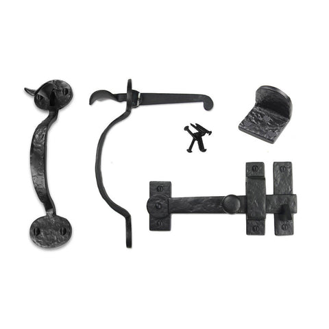 Cast Iron Bean Gate Kit - Drop Bar, Thumb Latch, & Gate Stop