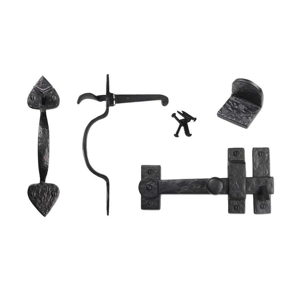 Cast Iron Spear Gate Kit - Drop Bar, Thumb Latch, & Gate Stop