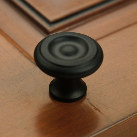 "Cast Iron 1-1/4"" Button Top Iron Cabinet Knob"