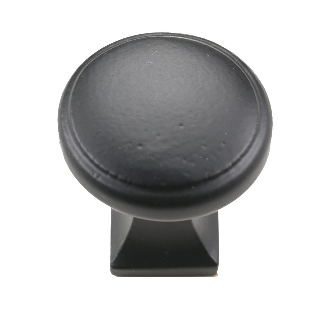Cast Iron Round Square Iron Cabinet Knob - Packs of 10