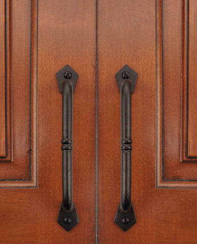 "Cast Iron 6"" Ripple Cabinet & Drawer Pull Handle - (Packs of 5, 10, & 25)"