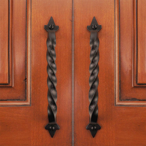 "Cast Iron 6"" Twist Cabinet & Drawer Pull Handle - (Packs of 5, 10, & 25)"