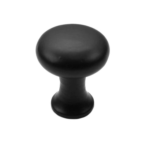 "Cast Iron Cabinet Hardware 1-1/8"" Tall Round Iron Cabinet Knob"