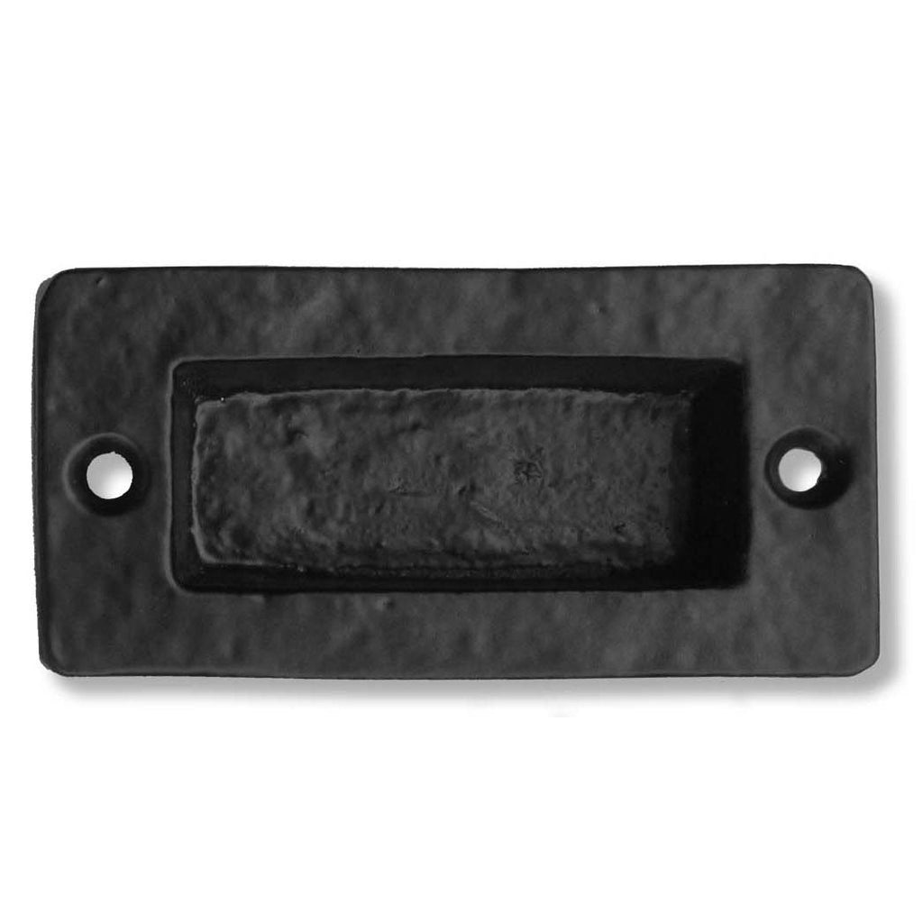 "Cast Iron 4"" Square Pocket Pull - Single Pocket Pull"