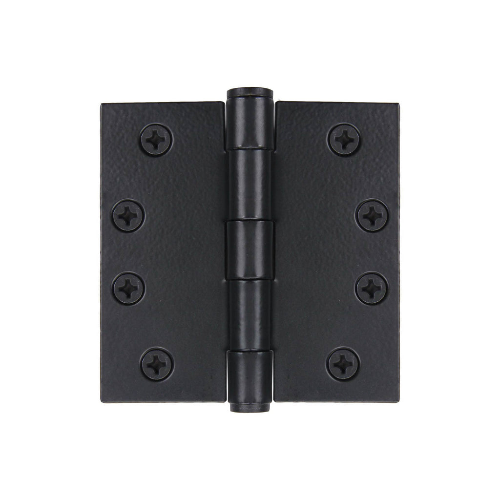 "Steel 4"" x 4"" Black Powder Coated Hinge"