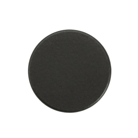 "Black Solid Stainless Steel  - 1"" Round Post Cabinet Knob - Packs of (5, 10, & 25)"