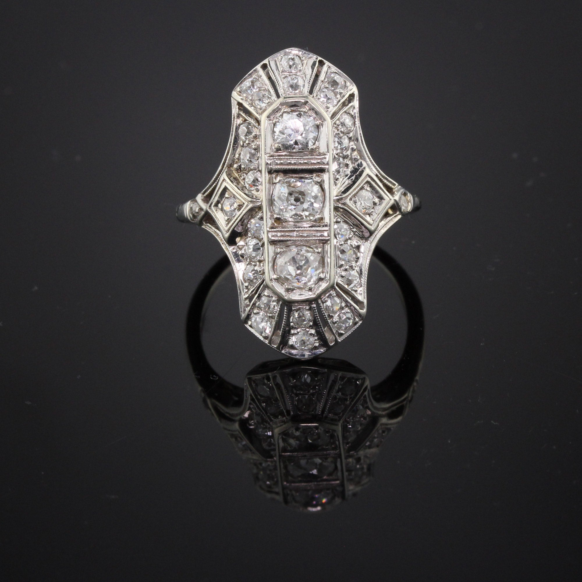in shield sale off diamond pin flash stunning cut ring rose navette