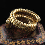 Vintage Estate 18K Yellow Gold & Sapphire Coil Ring - The Antique Parlour