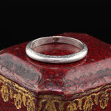 Antique Art Deco Platinum Engraved Wedding Band - Size 4 3/4 - The Antique Parlour