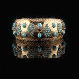 Antique 18K Yellow Gold & Turquoise Arm Cuff - The Antique Parlour