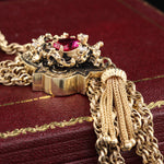 Victorian 14K Yellow Gold Diamond Necklace - The Antique Parlour