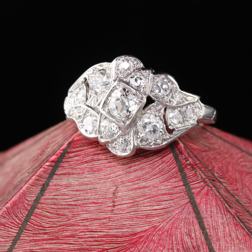 Antique Art Deco Platinum & Diamond Ring