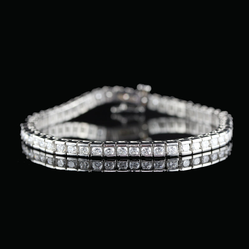 Vintage Estate Platinum Diamond Tennis Bracelet