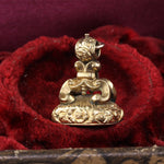 Antique 14K Gold Plated Intaglio Seal Pendant Charm