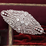 Antique Art Deco Platinum & Diamond Pin Brooch - The Antique Parlour