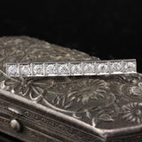 Antique Art Deco Platinum Diamond Bar Brooch - The Antique Parlour