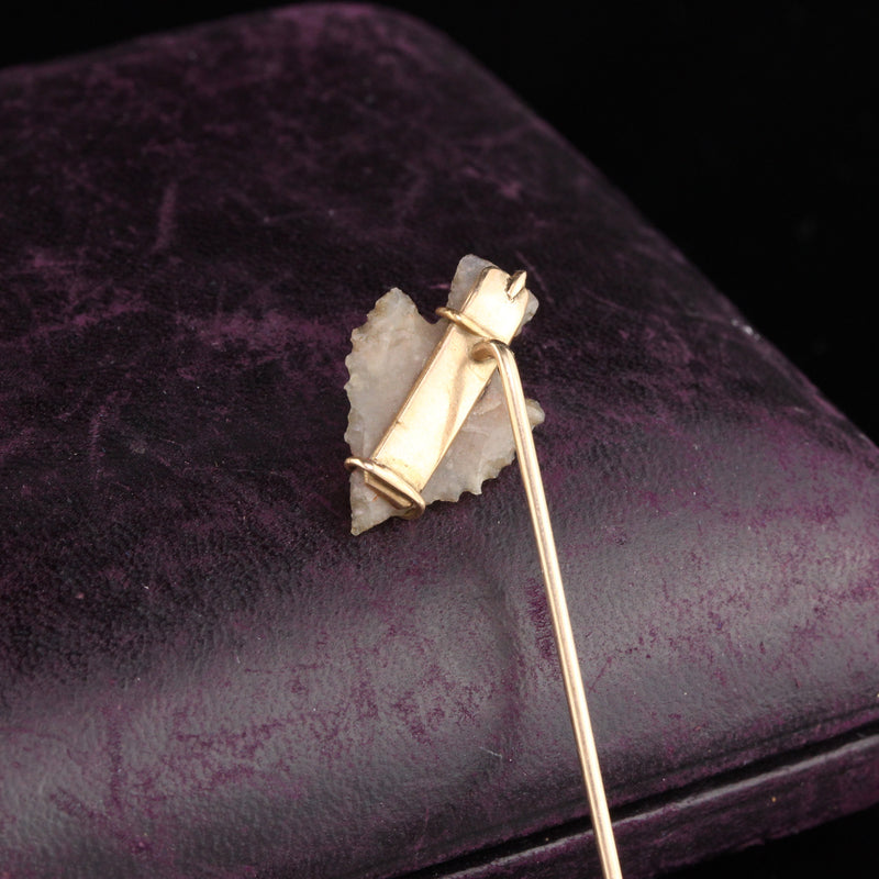 Antique Victorian 14K Yellow Gold Arrowhead Stick Pin