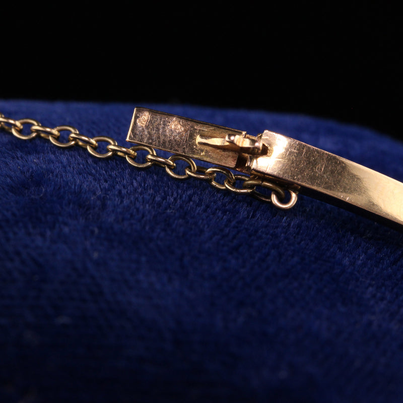 Antique Victorian 18K Yellow Gold French Paste Bangle Bracelet