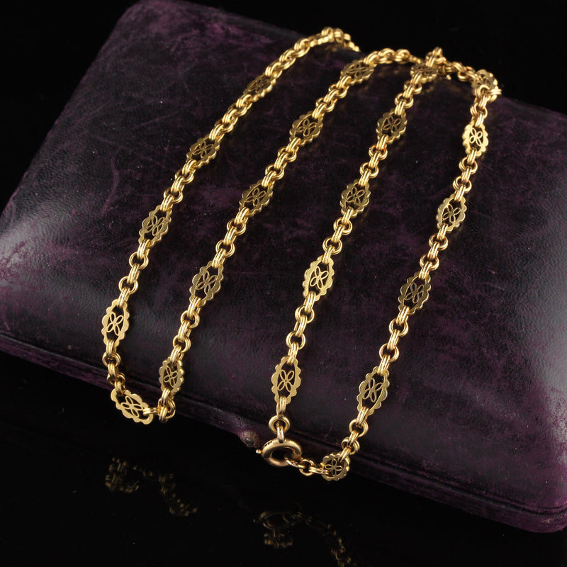 Victorian 20K Yellow Gold Necklace Chain