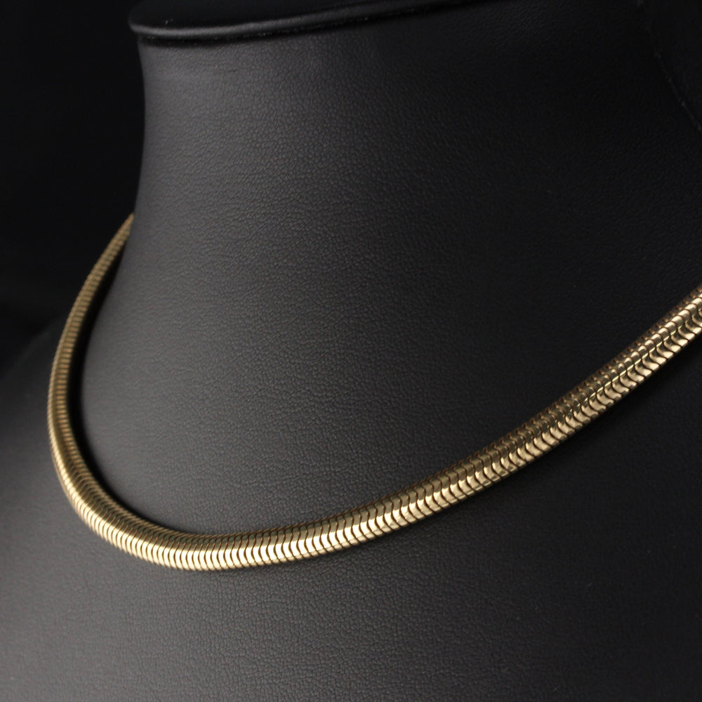 Vintage 14K Yellow Gold Snake Chain - Size 5.35 mm
