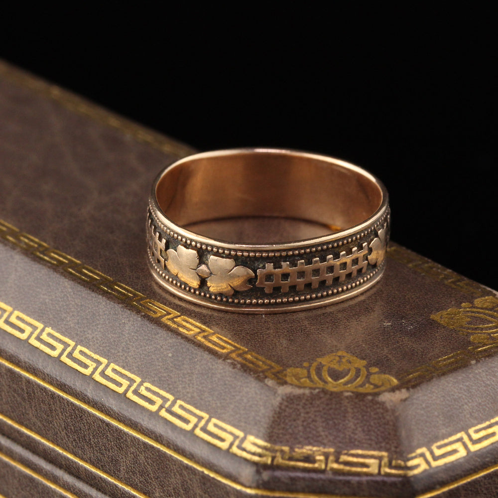 Antique Victorian 10K Yellow Gold Band - Size 6 3/4