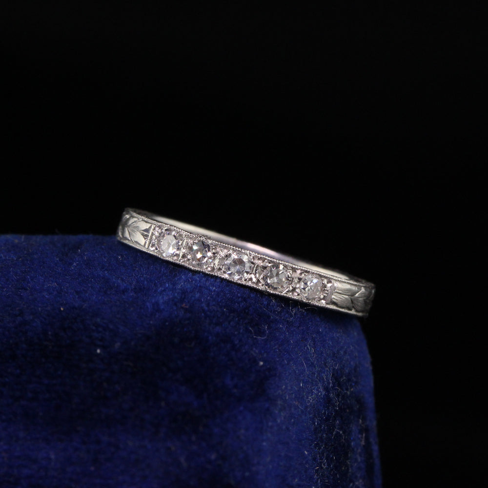Antique Art Deco Platinum 1/4 Diamond Eternity band