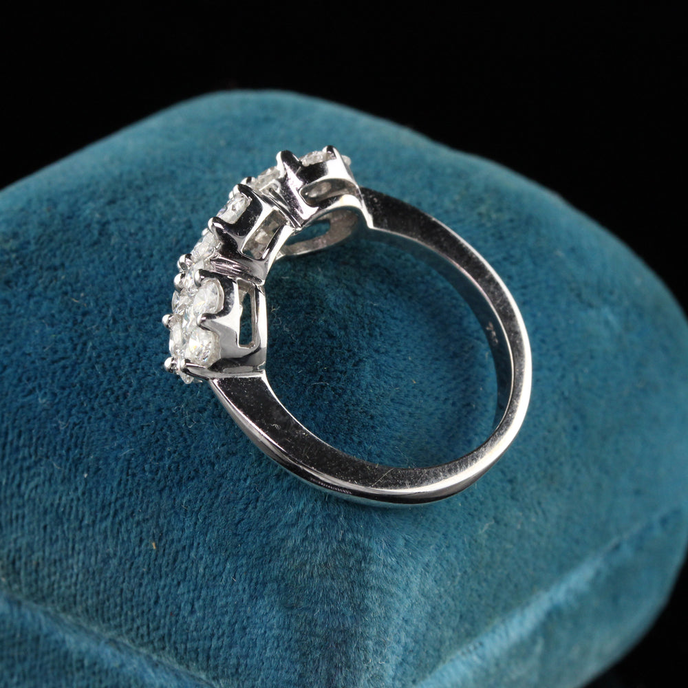 18K White Gold Diamond Engagement Ring - Size 7