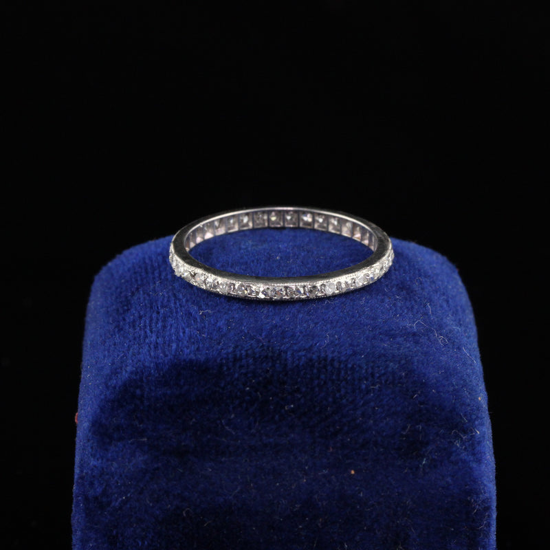 Antique Art Deco Platinum Eternity Band