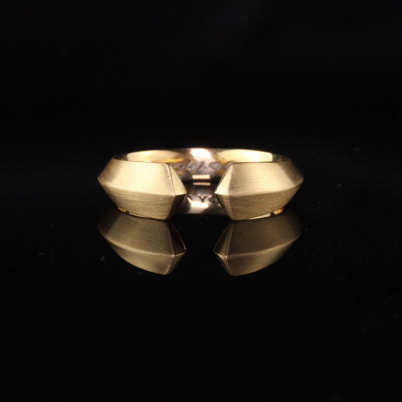 Vintage 18K Yellow Gold David Yurman Roman Open Band