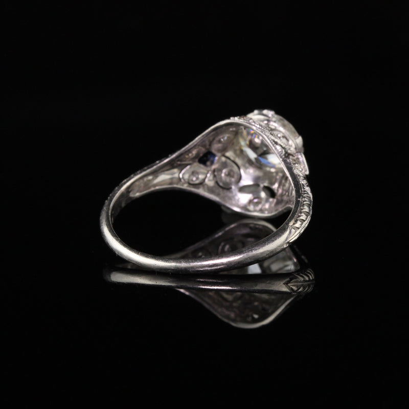 Antique Art Deco Platinum and Diamond Engagement Ring