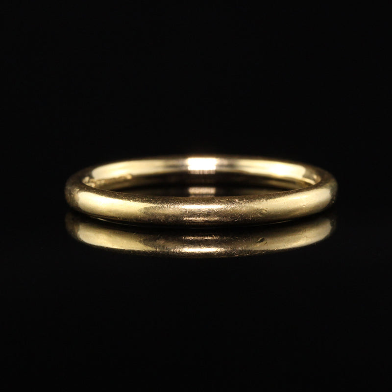 Antique Art Deco Tiffany and Co 18K Yellow Gold Wedding Band - Size 6 1/2